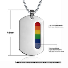 Load image into Gallery viewer, Pendant, Pride New Fashion Rainbow Pendant & Chain Necklace