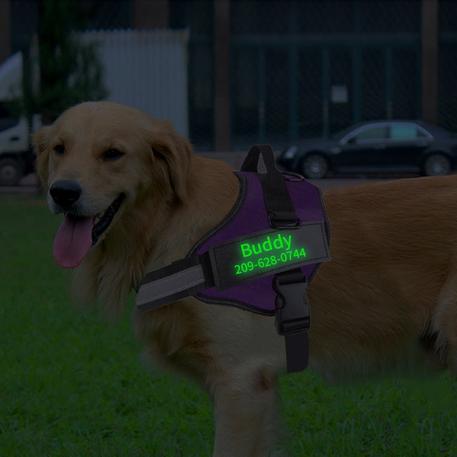 Dog Harness,  NO PULL Reflective Adjustable Dog Harness Vest For Small Large Outdoor Walking + Fluorescent Patch