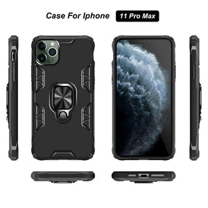 iPhone Case, Magnetic Armor Phone Case For iPhone SE 2020 11 11 Pro Max XR XS Max X 6 6S 7 8 Plus with Ring Holder Hard Back Cover
