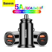 Load image into Gallery viewer, Car Charger, USB Car Charger QuickCharge 4.0 QC4.0 QC SCP 5A Type C