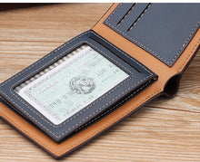 Load image into Gallery viewer, Wallet, Vintage Luxury Short Slim Leather Wallet For Men