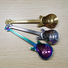 Load image into Gallery viewer, Spoon, Stainless Steel Guitar Shaped Coffee Love Teaspoon