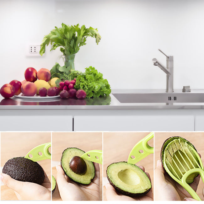 Cutter, 3 In 1 Avocado Slicer Peeler Cutter Multifunction Tools Kitchen Gadget