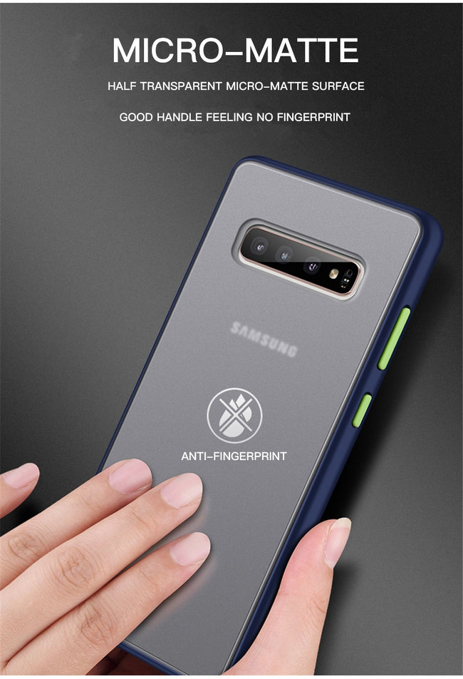Phone Case, Bumper Case For Samsung Galaxy S, A, & M & Note Series Matte Armor Hard Cover