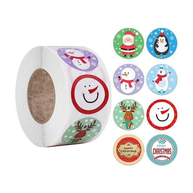Sticker, 500 pcs Christmas Gift Thank you Love Party Sealing Stickers