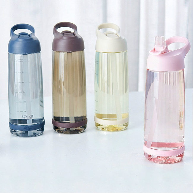 Water Bottle, Outdoor Leak Proof Eco-friendly BPA Free Sports Bottles with Straw