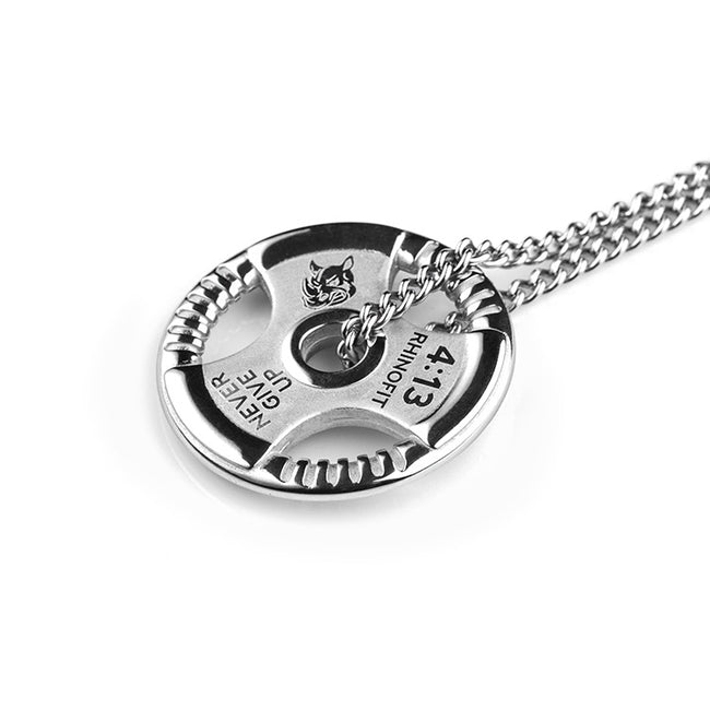 Pendant, Weight Plate Barbell Weightlifting Bodybuilding Pendant & Chain Necklace