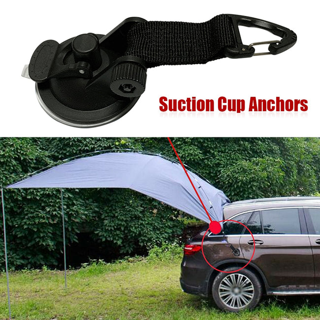 Suction Cup, 4 Pcs Outdoor Suction Cup Anchor Tie Down Camping Tents Securing Hook