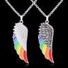 Pendant, Pride Stainless Steel Angel Wing Pendant & Necklace for Love Beyond Gender