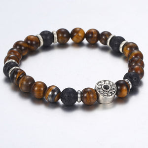 Bracelet,  Magnificent Natural Tiger Eye Beaded Stone Bracelet