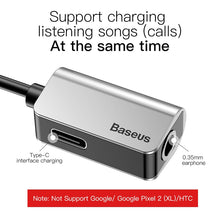Load image into Gallery viewer, Adapter & Charger, Baseus USB C OTG Adapter Type C to 3.5mm Jack Type-c Aux Audio Connector For Xiaomi Redmi Note 7 Mi 9 Huawei Mate 30 P30 P20 Pro