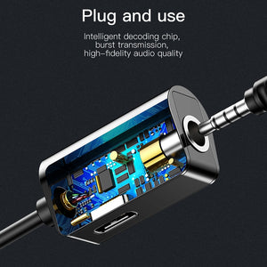 Adapter & Charger, Baseus USB C OTG Adapter Type C to 3.5mm Jack Type-c Aux Audio Connector For Xiaomi Redmi Note 7 Mi 9 Huawei Mate 30 P30 P20 Pro