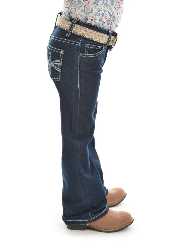 PURE WESTERN GIRLS DEMI BOOT CUT JEANS