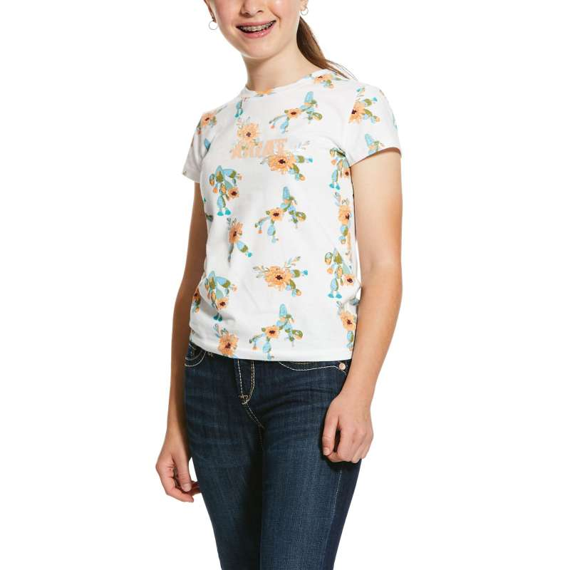 ARIAT GIRLS REAL ALL OVER CACTUS TEE