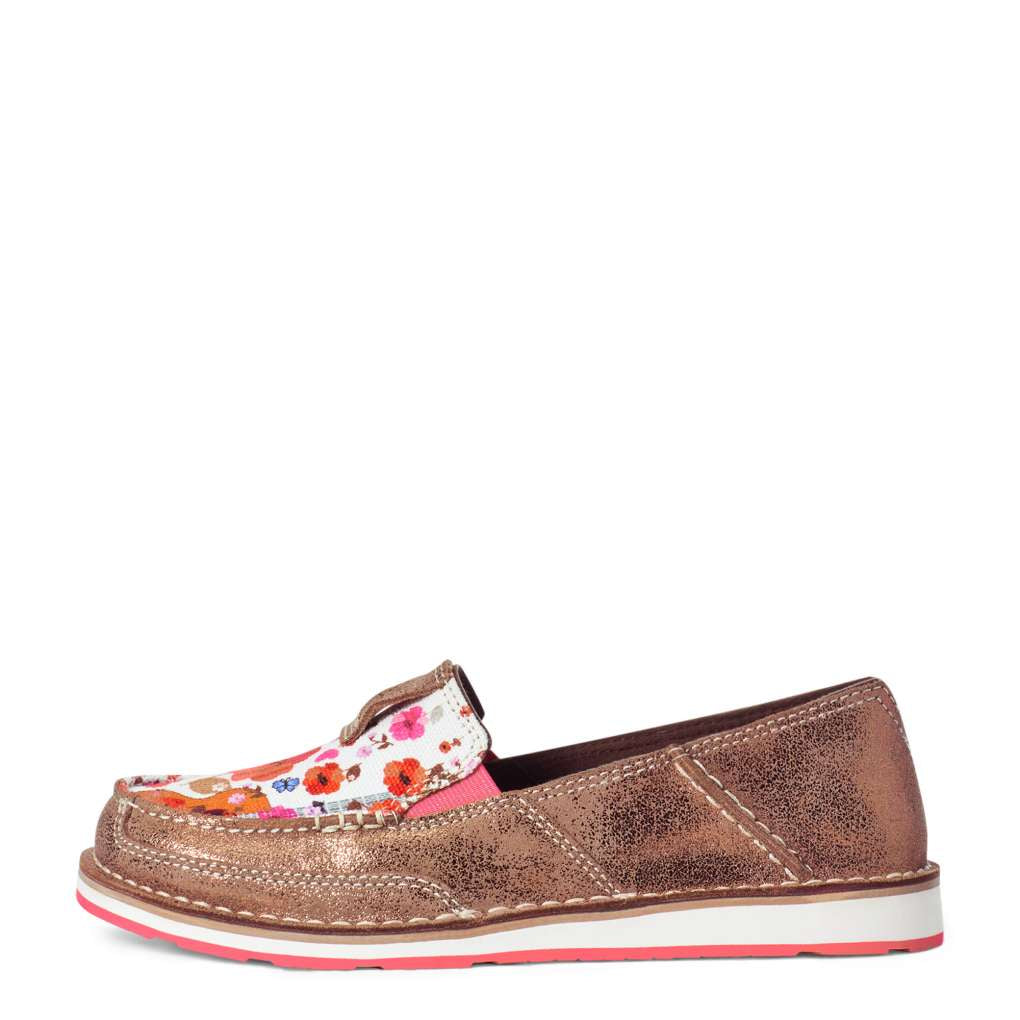 Details about  /Ariat Womens Cruiser Copper Metallic Side Floral Guitar Print
