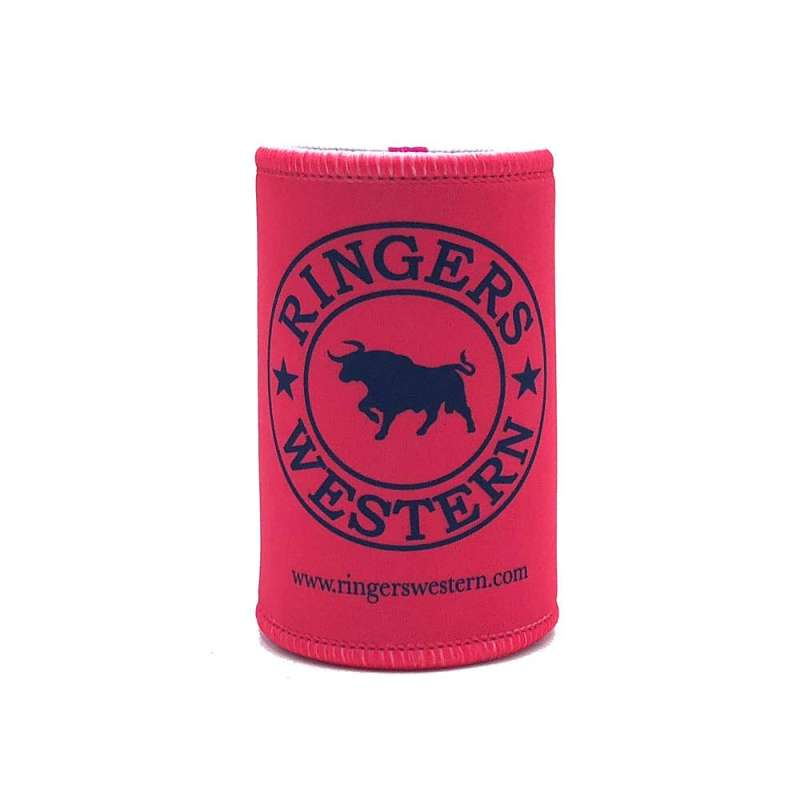 RINGERS WESTERN SIGNATURE BULL STUBBY COOLER PINK