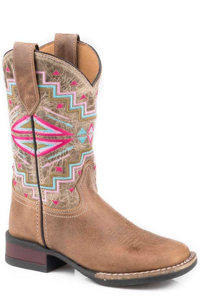 Roper Kids Monterey Aztec Tan Leather