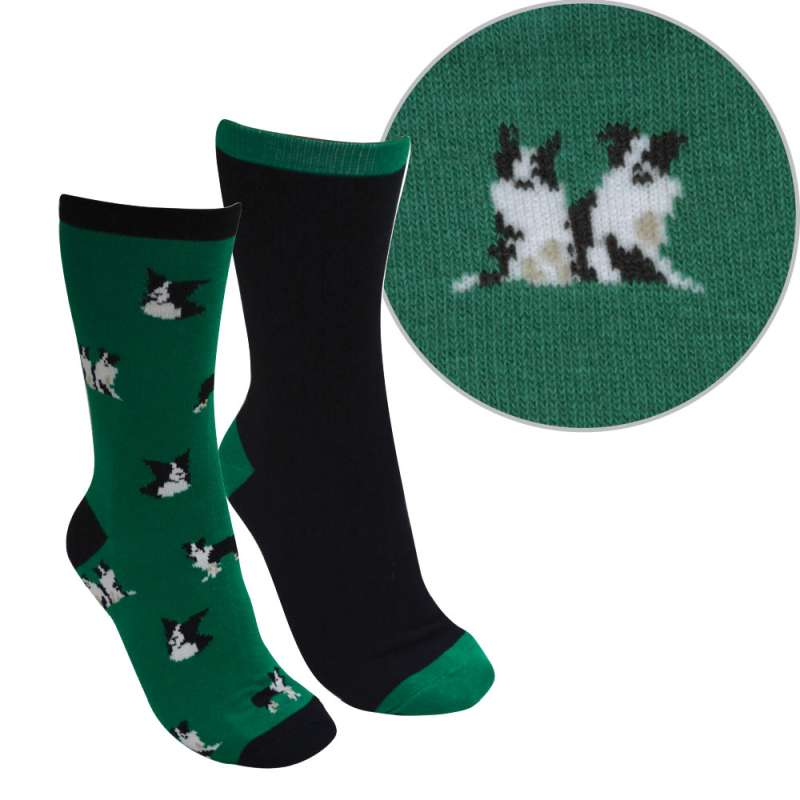 THOMAS COOK KIDS FARMYARD COLLIE SOCKS TWIN PACK