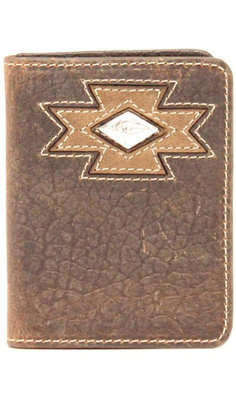 ARIAT BI-FOLD WALLET SW CROSS DIAMOND CONCHO