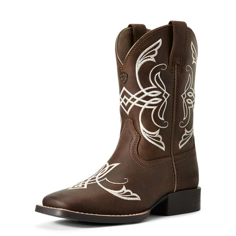 ARIAT KIDS FAMOUS DISTRESSED BROWN