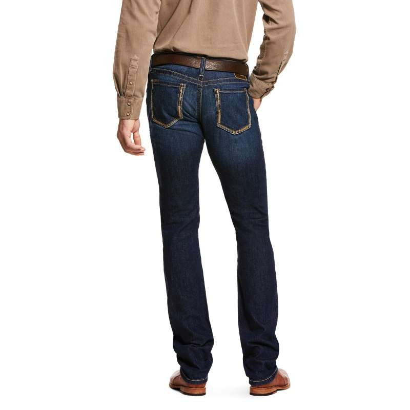 ARIAT MENS M8 MODERN FLINTRIDGE SLIM LEG CASH JEANS