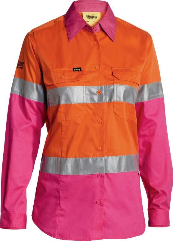 BISLEY LADIES HI VIS TAPE SHIRT BL6696T