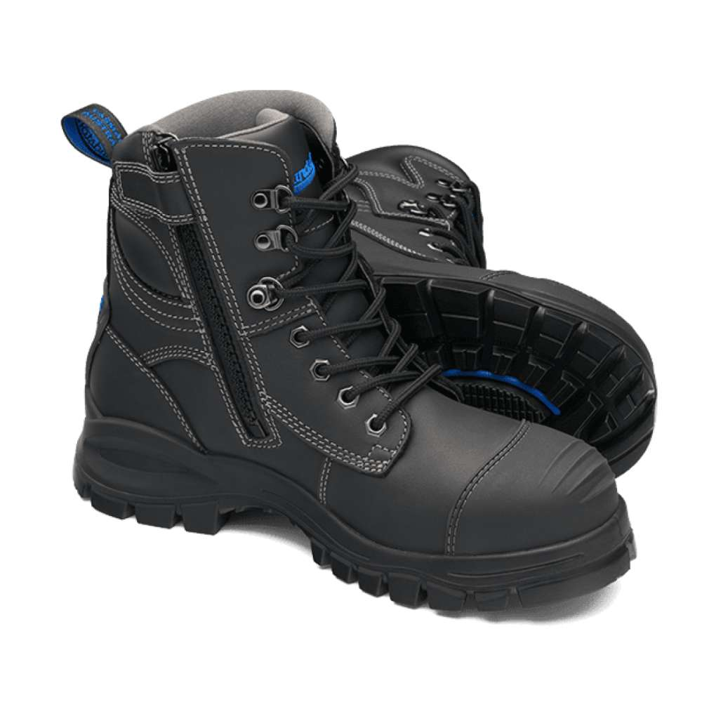 BLUNDSTONE 997 ZIP LACE UP SAFETY BOOT WATER RESISTANT