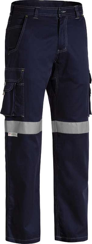 BISLEY COOL VENTED CARGO PANT LIGHTWEIGHT WITH 3M TAPE BPC6431T Navy