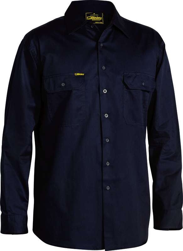 BISLEY LIGHT WEIGHT DRILL SHIRT BS6893 Navy