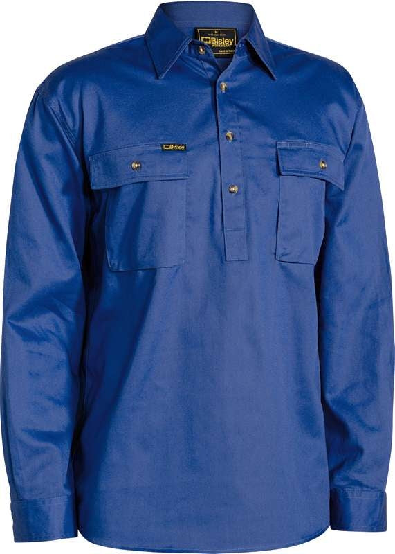 BISLEY CLOSED FRONT DRILL SHIRT BSC6433