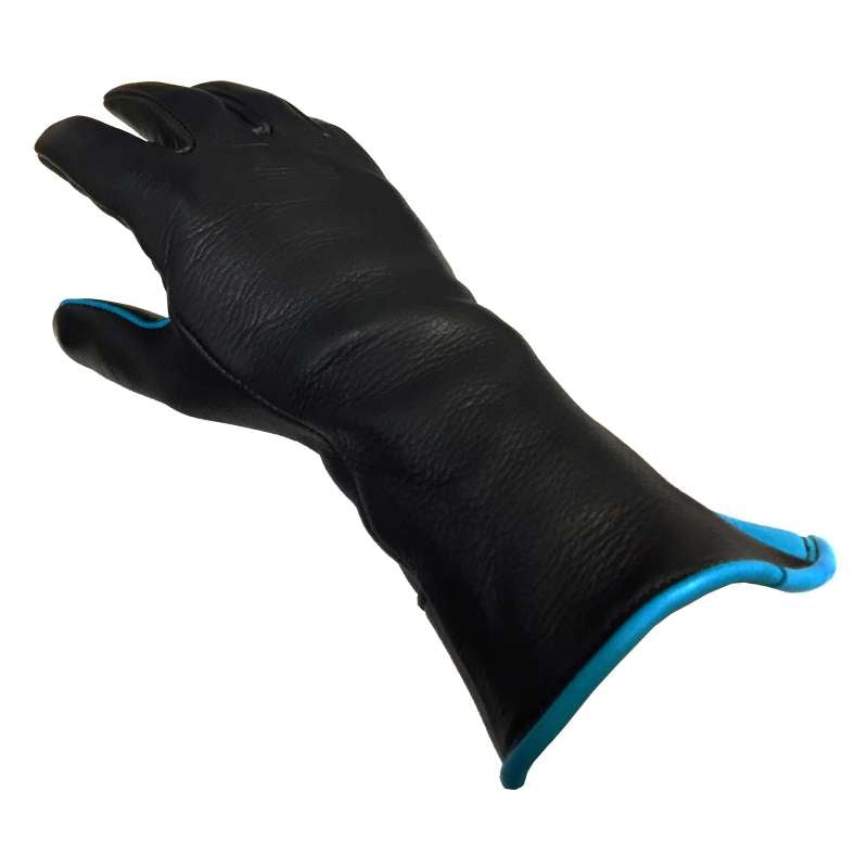 CHURCHILL PROFESSIONAL BULL RIDING GLOVE TURQUOISE