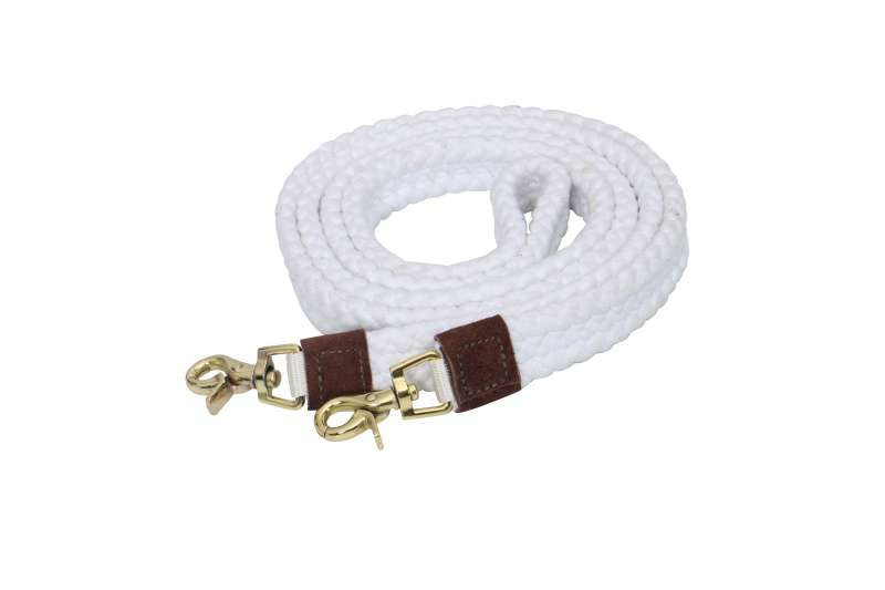 COTONFIELDS ROPING REIN 7FT 6INCH SINGLE BROWN