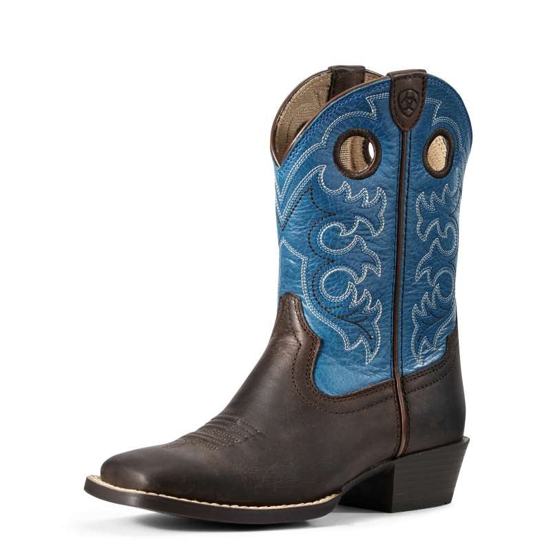 ARIAT KIDS CROSSFIRE TOFFEE BEAN/LOYAL BLUE