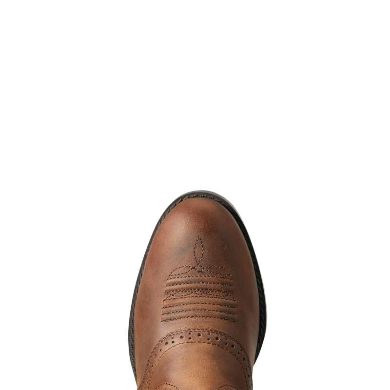 ARIAT KIDS HERRITAGE STOCKMAN DISTRESSED BROWN