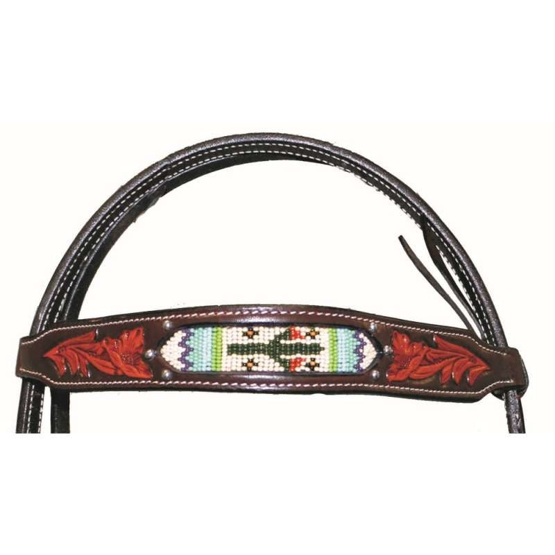 FORT WORTH CACTUS BEADED HEADSTALL
