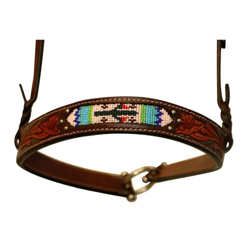 FORT WORTH CACTUS BEADED NOSEBAND