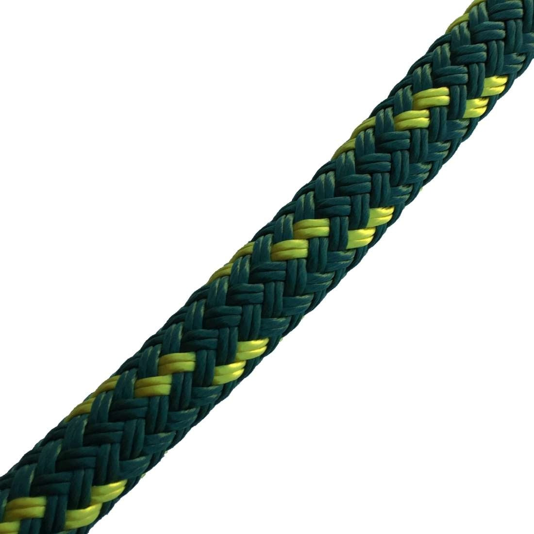 TTS Reins Yacht Braid 14mm x 2.1m with Leather Slobber Straps