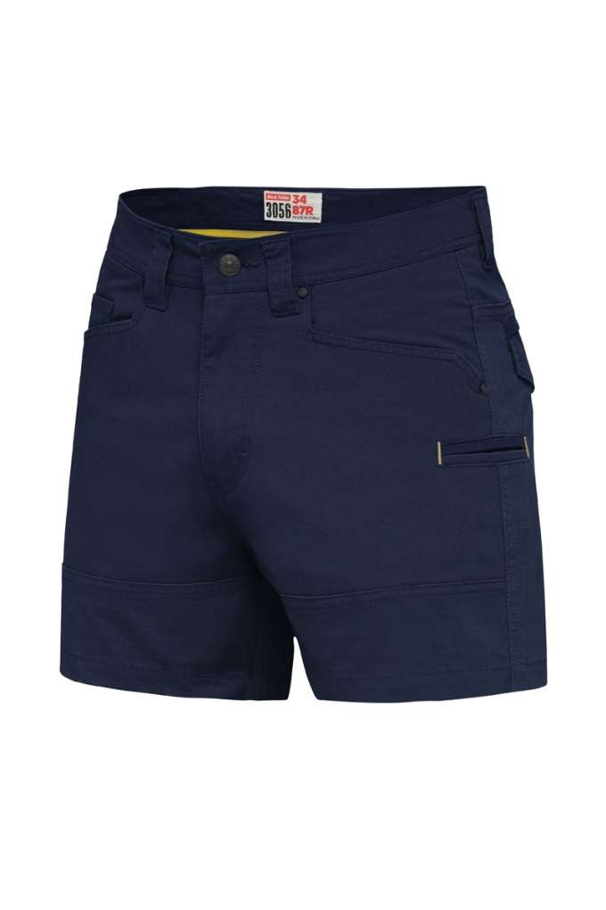 HARD YAKKA RIPSTOP S/SHORTS NAVY