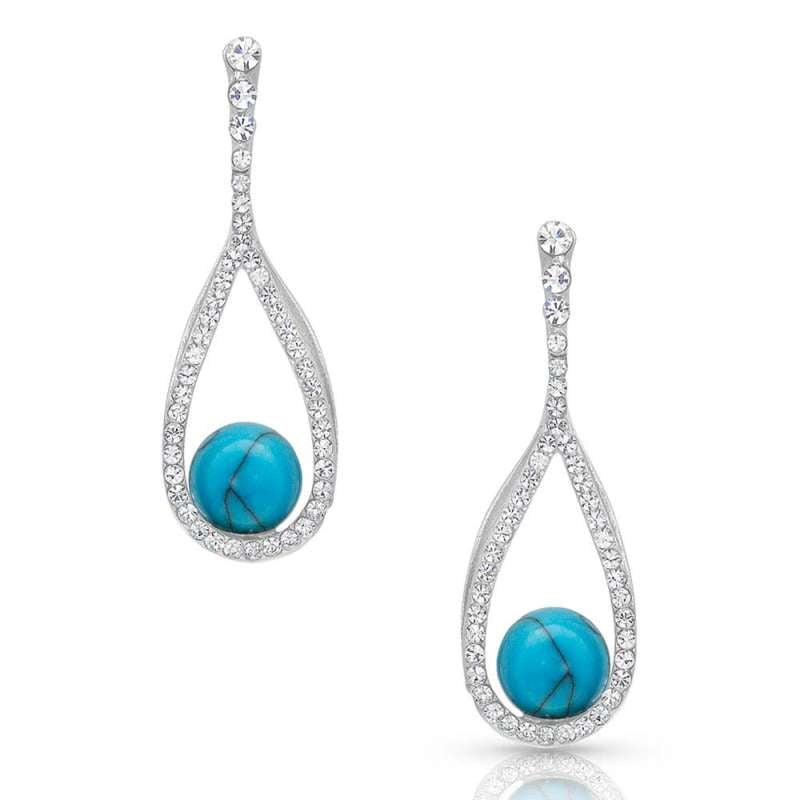 MONTANA SILVER ER4483 OPEN TEARDROP EARRINGS