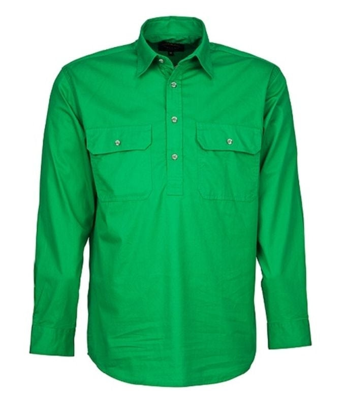 RITEMATE PILBARA LADIES CLOSED FRONT SHIRT EMERALD