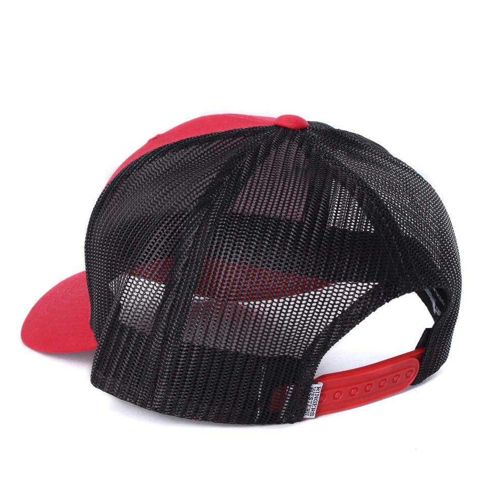 RINGERS WESTERN SIGNATURE BULL TRUCKER CAP RED WITH BLK/WHITE