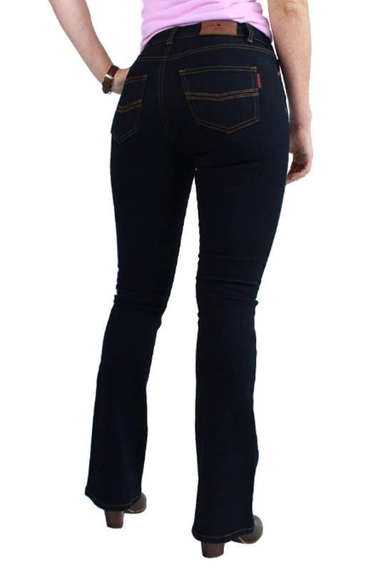 RINGERS WESTERN KATHERINE CLASSIC BOOT LEG JEANS LONG DARK BLUE