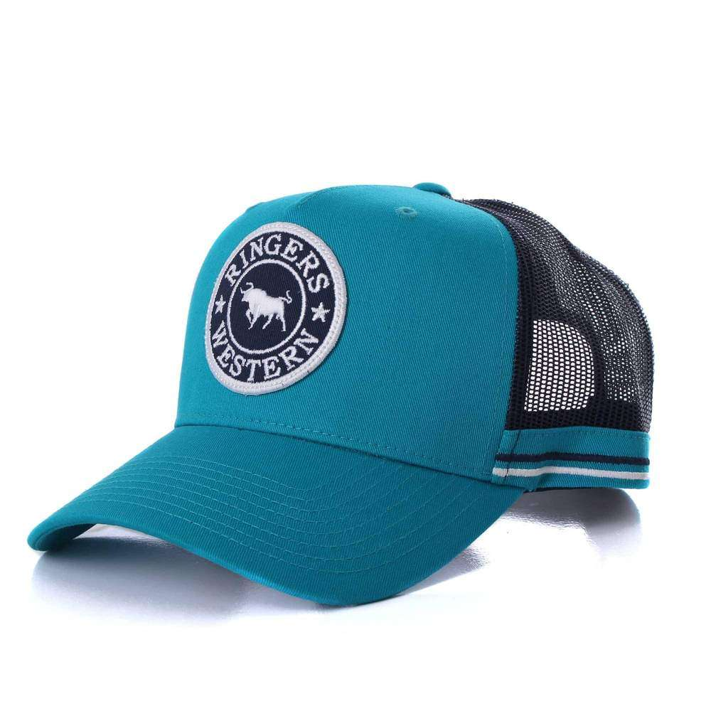 RINGERS WESTERN DROVER LAND TRUCKER CAP TEAL