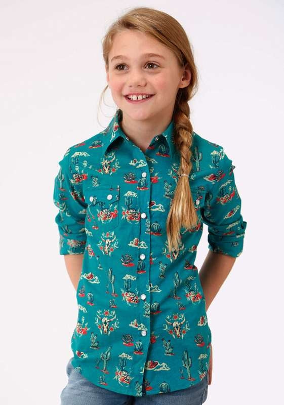 ROPER GIRLS FIVE STAR COLLECTION DESERT IMAGE SHIRT