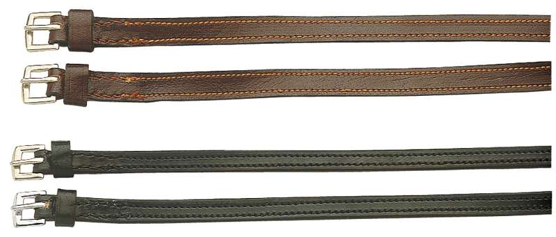 ENGLISH STYLE SPUR STRAP 1/2 INCH BLACK