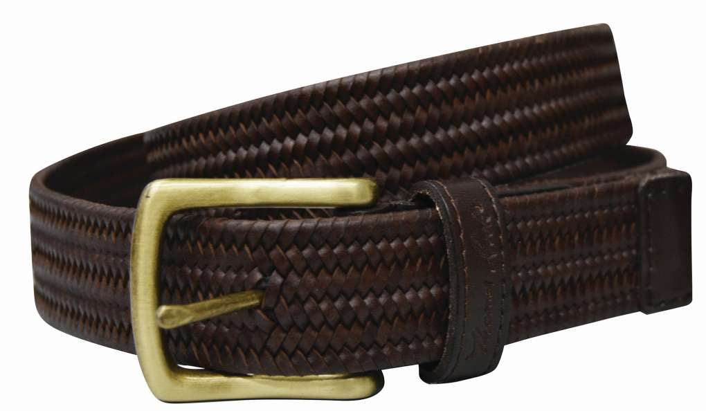 THOMAS COOK MENS STRETCH LEATHER BELT