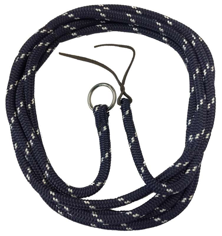 TTS DOUBLE BRAID LUNGE LEAD ROPE WITH RING 6M