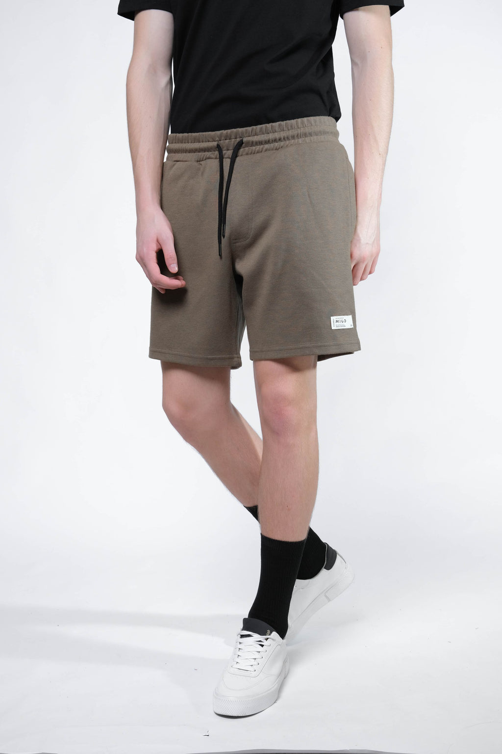 Interlock Jogger Shorts (Khaki) - MIGO