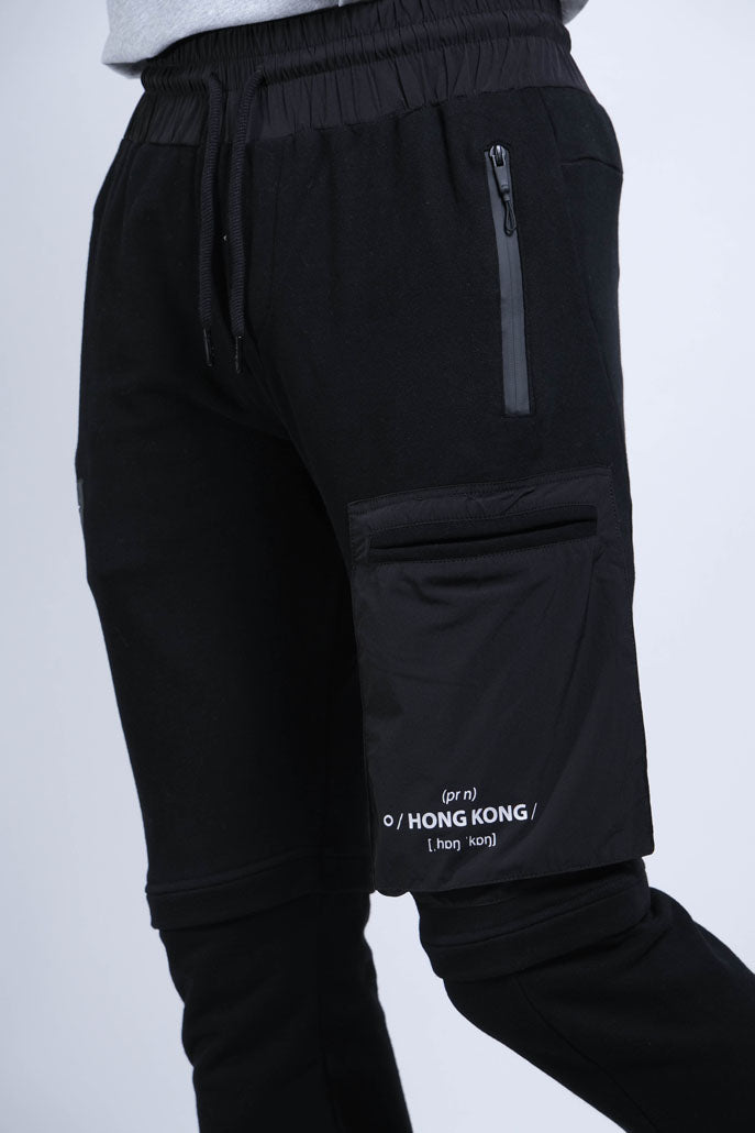 Woven Pocket Joggers (Black) - [MIGO Menswear]