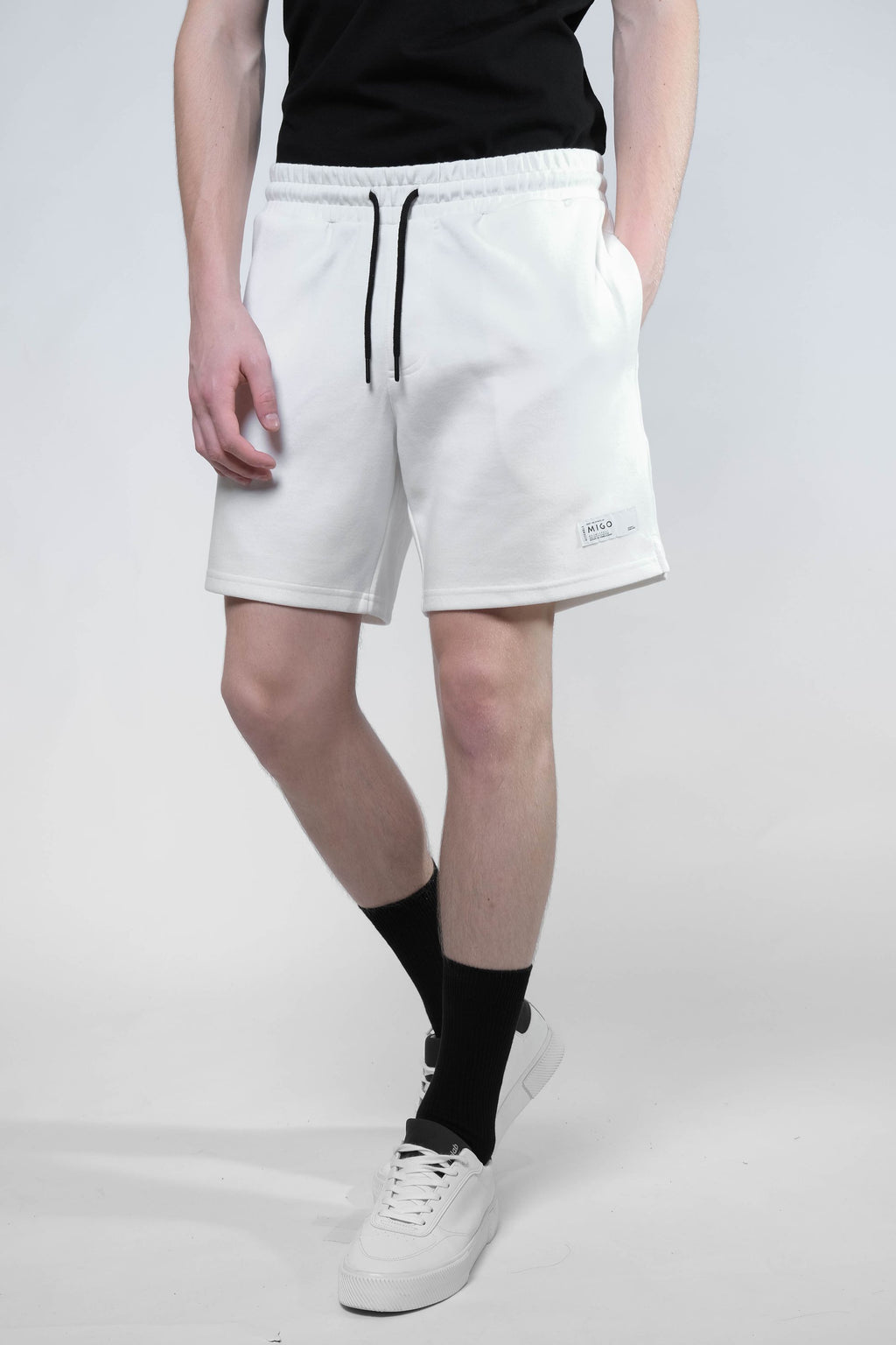 Interlock Jogger Shorts (Offwhite) - [MIGO Menswear]